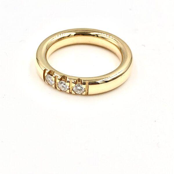 Melcher Copenhagen guld ring med diamant alliance - 3405-0,21