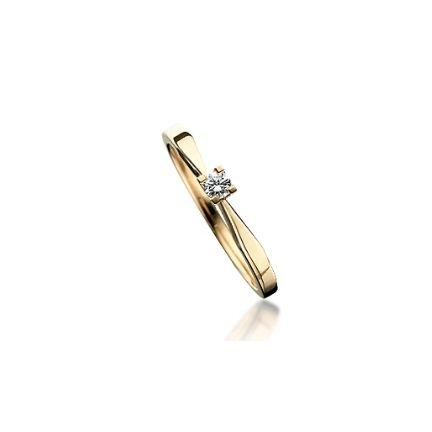 Kleopatra Ring - 0,10 rødguld - 7135,10-0