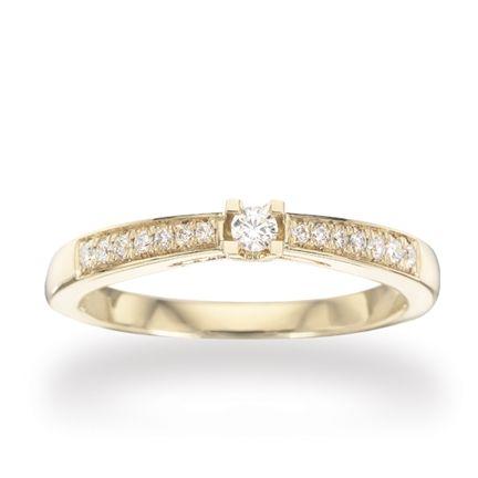 Kleopatra Queen Ring - 0,22 rødguld - 7535,22-0
