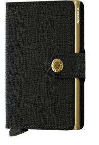SECRID MINI WALLET - crisple black gold - mc-black-gold-0