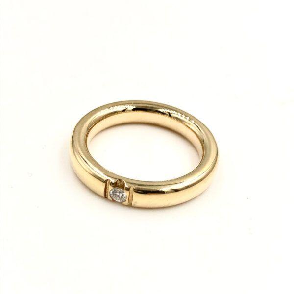 Guld Ring - Lækker alliance med diamanter - 3405-0,21
