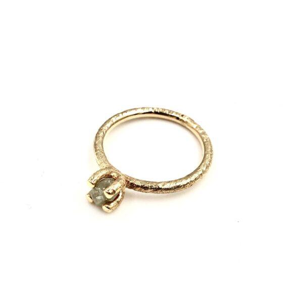 Guld Ring - Lækker alliance med diamanter - 128-14