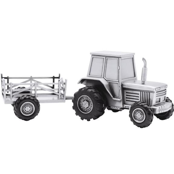 Nordahl Andersen - Fortinnet Traktor med vogn Sparebøsse - 152-76904-0