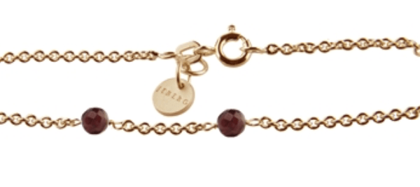 Love eye bracelet- Rød Granat - 7180-G-0